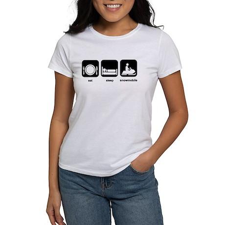 Eat Sleep Snowmobile Women's T-Shirt