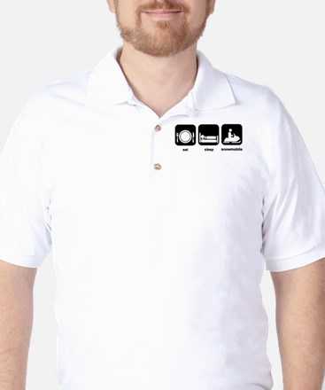 Eat Sleep Snowmobile Golf Shirt