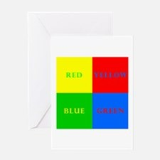 Four Square Greeting Card