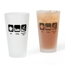 Eat Sleep Mountain Bike Drinking Glass
