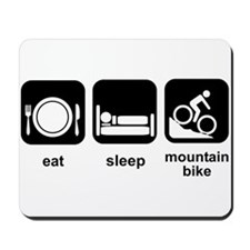 Eat Sleep Mountain Bike Mousepad