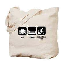 Eat Sleep Mountain Bike Tote Bag