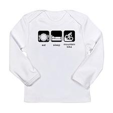 Eat Sleep Mountain Bike Long Sleeve Infant T-Shirt