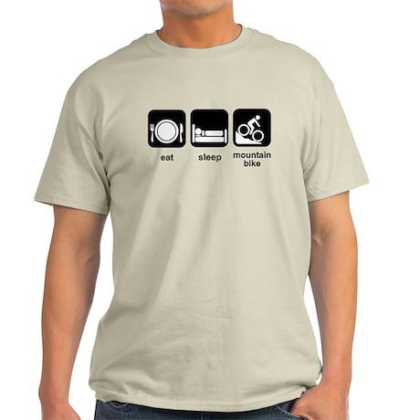 Eat Sleep Mountain Bike Light T-Shirt