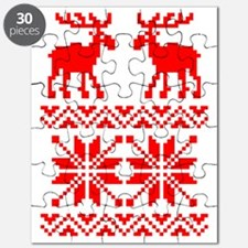 Moose Sweater Christmas Pattern Puzzle