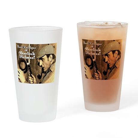 $14.99 Rathbone IS Sherlock! Drinking Glass