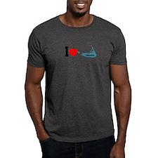 Nantucket MA - I lLove Design T-Shirt