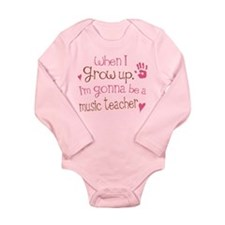 Kids Future Music Teacher Long Sleeve Infant Bodys