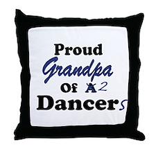 Grandpa of 2 Dancers Throw Pillow
