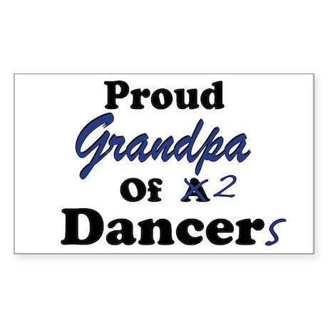 Grandpa of 2 Dancers Rectangle Sticker