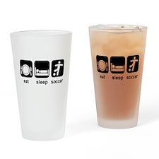 Eat Sleep Soccer Drinking Glass