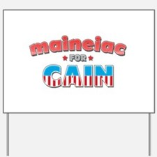 Maineiac for Cain Yard Sign