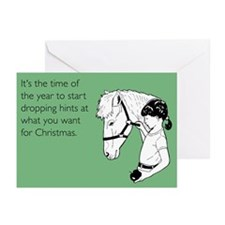 Dropping Christmas Hints Greeting Cards (Pk of 10)