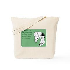 Dropping Christmas Hints Tote Bag