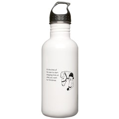 Dropping Christmas Hints Water Bottle