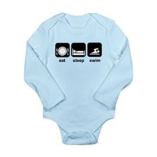 Eat Sleep Swim Long Sleeve Infant Bodysuit