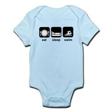 Eat Sleep Swim Infant Bodysuit
