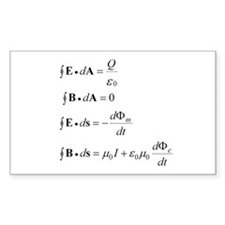Maxwell's Equations Decal
