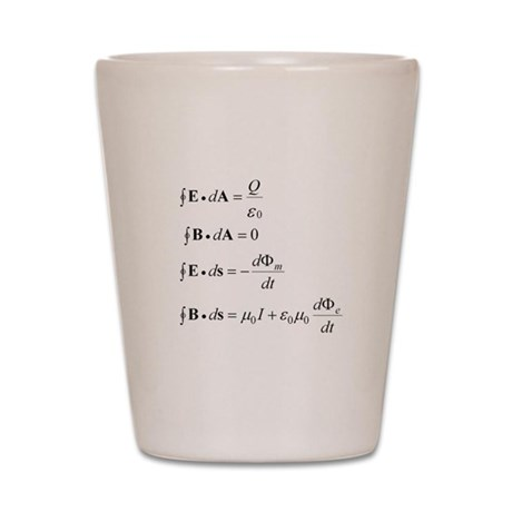 Maxwell's Equations Shot Glass