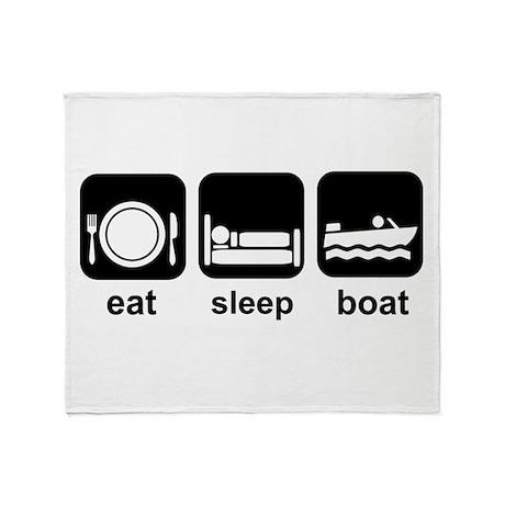 Eat Sleep Boat Throw Blanket