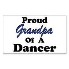Grandpa of a Dancer Rectangle Decal