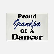 Grandpa of a Dancer Rectangle Magnet