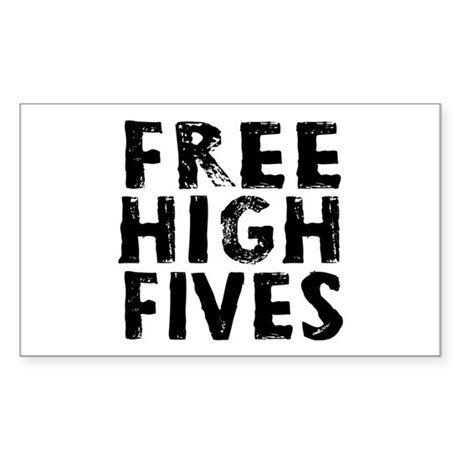 Free High Fives Sticker (Rectangle)