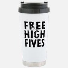 Free High Fives Stainless Steel Travel Mug
