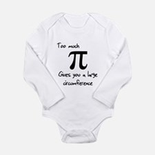 Pi Circumference Long Sleeve Infant Bodysuit