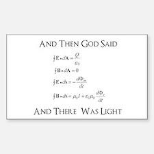 And God Said... Funny Decal