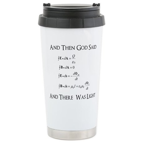 And God Said... Funny Stainless Steel Travel Mug