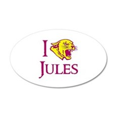 I Love Jules Cougar Town 22x14 Oval Wall Peel