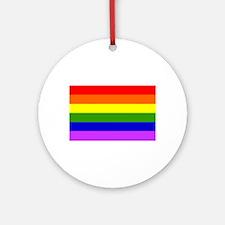 Rainbox Pride Flag Ornament (Round)