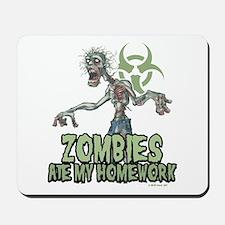 Zombies Ate My Homework Mousepad