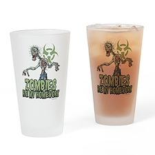 Zombies Ate My Homework Drinking Glass