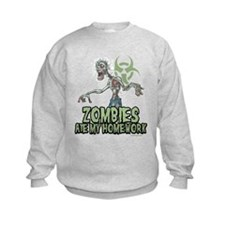 Zombies Ate My Homework Sweatshirt