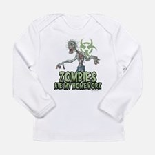 Zombies Ate My Homework Long Sleeve Infant T-Shirt
