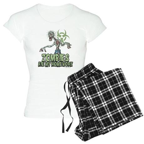 Zombies Ate My Homework Women's Light Pajamas