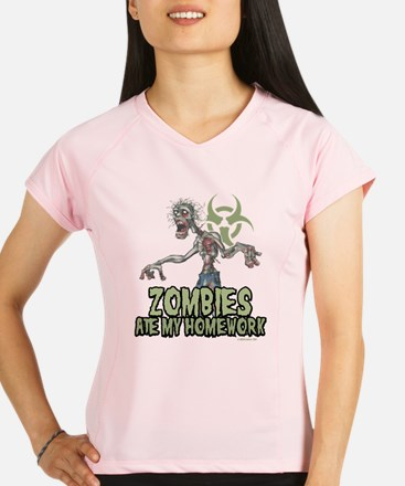 Zombies Ate My Homework Performance Dry T-Shirt
