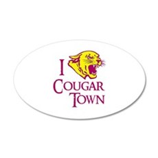 I Love Cougar Town 22x14 Oval Wall Peel