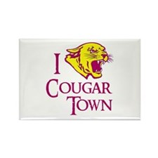 I Love Cougar Town Rectangle Magnet