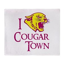 I Love Cougar Town Throw Blanket