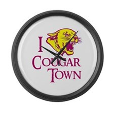 I Love Cougar Town Large Wall Clock