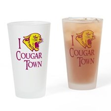 I Love Cougar Town Drinking Glass