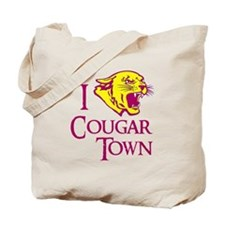 I Love Cougar Town Tote Bag