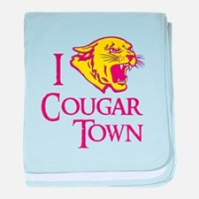 I Love Cougar Town baby blanket