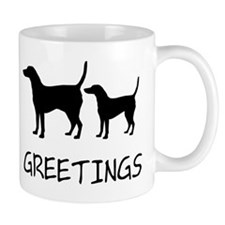 Greetings Dog Sniffs Mug