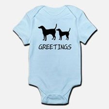Greetings Dog Sniffs Infant Bodysuit