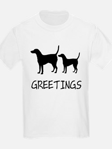 Greetings Dog Sniffs T-Shirt