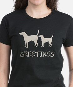 Greetings Dog Sniffs Tee